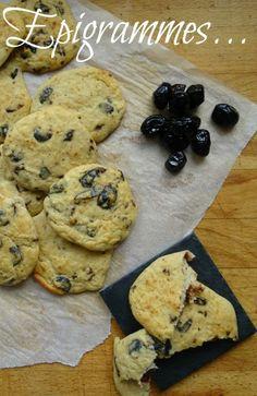 Cookies Salés pour l'apéro,  Haricots Blancs & Olives Noires ... IG bas.. :)