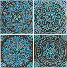 Decorative Wall Art Tiles Set Of 9 Mandala Circle Wall Art Tiles Made From Ceramicthis