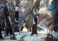 John Fabian Carlson Winter Scene