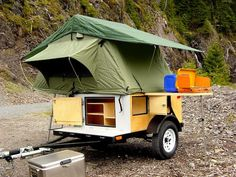 explorer box mobile diy tent camper easy set up 07   DIY Tent Campers You Can Build on a Tiny Trailer