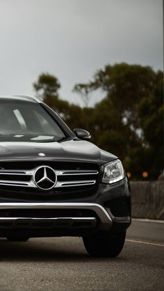 Download iPhone Xs, iPhone Xs Max, iPhone XR HD wallpapers  mercedes-benz glc300, mercedes, car, black, front view