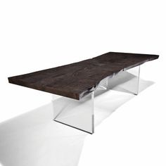 Dining table / contemporary / wooden / Plexiglas® PLEXI Hudson Furniture