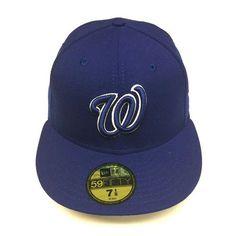 8e183d2b58b 7 1 8 SIZE New Era Washington Nationals Cap Royal Blue Custom 59FIFTY  Fitted Hat