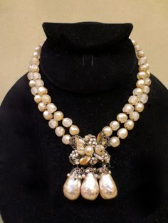 Vintage 1950s Miriam Haskell Unsigned Large 'Gifts of The Sea' Necklace | eBay