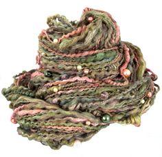 beaded art yarn handspun handpainted Spring Parfait by wildethyme