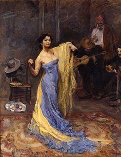 Bildnis der Tänzerin Marietta di Rigardo; 1904; Max Slevogt