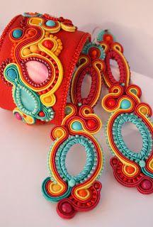 Soutache Bracelet, Soutache Jewelry, Beaded Jewelry, Plastic Canvas Patterns, Plastic Canvas Tissue Boxes, Handmade Necklaces, Handmade Jewelry, Thread Jewellery, Jewelry Patterns
