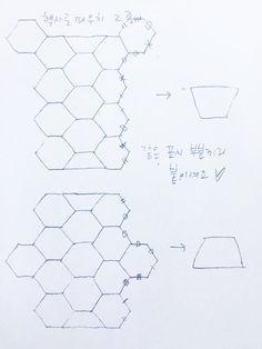 2019 헥사곤파우치 : 네이버 블로그 Hexagon Patchwork, Japanese Patchwork, Hexagon Quilt, Patchwork Patterns, Sewing Patterns, Sewing Hacks, Sewing Projects, Stitch Patch, English Paper Piecing