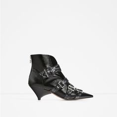 ZARA - COLLECTION SS/17 - LEATHER ANKLE BOOTS WITH STRAPS