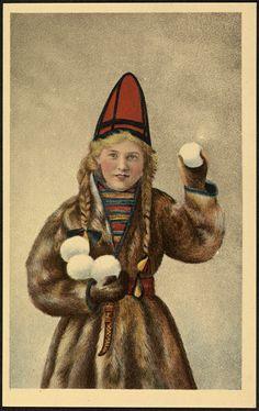 All sizes   Jente i samelignende drakt / Girl in Sami costume   Flickr - Photo Sharing!