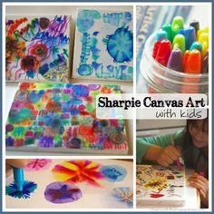 Beneath the Rowan Tree: Sharpies on Canvas :: DIY Art Craft with Kids
