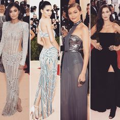 in in in and in from the Red Carpet of Bella Hadid, Fit S, Kendall Jenner, Balmain, Givenchy, Versace, Red Carpet, Tommy Hilfiger, Formal Dresses