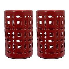 Lanterns in Red - Set of 2 | Nebraska Furniture Mart