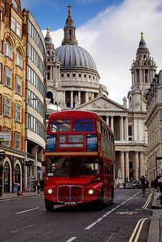 St Pauls & Red bus...just down the road from work  :)