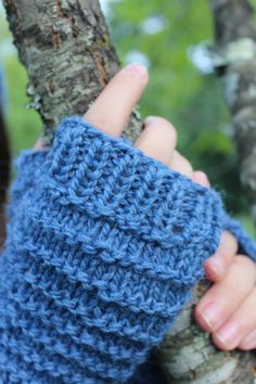 Kids Wool Gloves, Knit Fingerless Gloves, Handknit Wool Mittens, Texting Gloves for Kids, Knitted Handwarmers by TinkerCreekHandknits