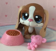 ~❤️ ~Littlest Pet Shop #1655 BASSET BASSETT HOUND DOG accessories*Flawed*~❤️ ~ #Hasbro