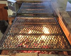 Custom Stainless Steel Fire Pit Grate and replacement BBQ Grates Fire Pit Grill Grate, Fire Pit Bbq, Fire Pit Backyard, Fire Pits, Backyard Barbeque, Barbecue Pit, Backyard Patio, Custom Bbq Pits, Custom Fire Pit