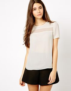 New Look | New Look Tee With Mesh Inserts at ASOS