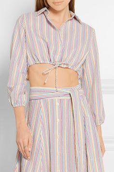 Lisa Marie Fernandez | Cropped stripped seersucker shirt | NET-A-PORTER.COM