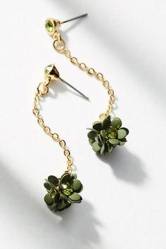Slide View: 1: Gardenia Drop Earrings