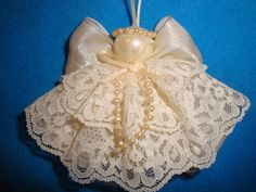 Lace angel Tree decoration Ornament gift tie on by AudreysAngels