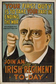 Irish WW1 recruitment poster