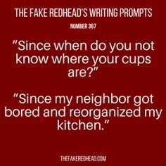 TFR's Writing Prompt 367