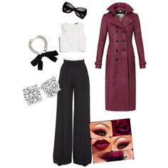 A fashion look from December 2014 featuring MANGO tops, Burberry coats and Carolina Herrera pants. Browse and shop related looks.