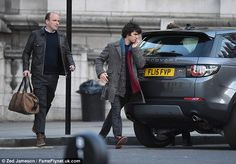 Everyone's here: Rory Kinnear who plays Tanner and Ben Whishaw who reprises his role as Q ...