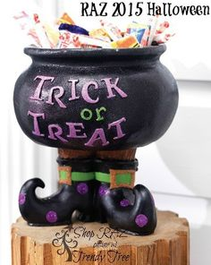 raz trick or treat cauldron coming to trendy tree - Raz Halloween Decorations