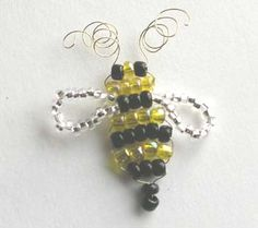 adorable beaded bee, not sure if it's to be a charm or other...but will have to try it out.