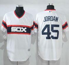 5dd99b96e9a White Sox  45 Michael Jordan White New Cool Base Alternate Home Stitched  MLB Jersey Chicago