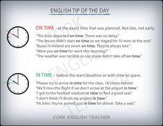IN TIME vs ON TIME #voc #ELT
