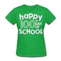 happy 100th day of school teacher shirt T-Shirt | Teacher T-Shirts