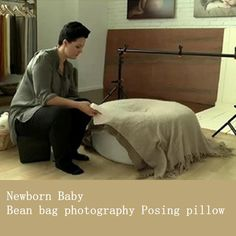 Sells Newborn Baby Posing pillow Infant Bean bag 36x14inch pillow sofa cover Professional Positioner poser round beanbag photo