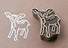 Wood block stamp, Bambi