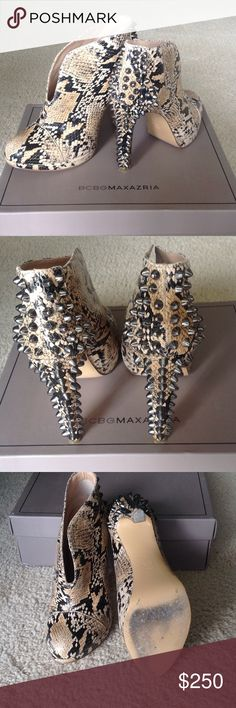 BCBG MAXAZRIA DARIA BOOTIES. BCBG Daria Light Stone Studded Platform Boots Shoes 7.5.  $395 in Shoes & Accessories, Women's Shoes, Boots | WORN TWICE, REALLY GOOD CONDITION. BCBGMaxAzria Shoes Ankle Boots & Booties