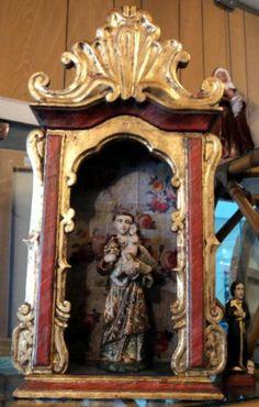 oratorio Religious Images, Religious Art, Religious Jewelry, Catholic Altar, Catholic Mass, Faith Crafts, Floral Furniture, Goth Home, Home Altar