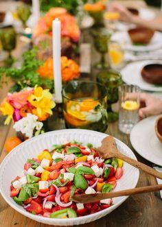 tomato, basil, mozzarella | photo by Danielle Capito Photography | 100 Layer Cake
