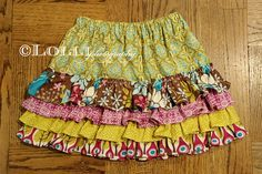 Need a girl to sew for, love this skirt and tutorial