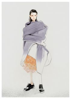 Illustration.Files: Acne Studios Pre-Fall 2015 Fashion Illustration by Nuno Da Costa