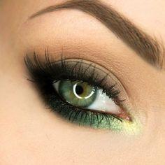 Inspirations make-up : 25 façons de porter du vert sur les yeux ! Inspirations make-up: 25 ways to wear green on the eyes! Makeup Geek, Makeup Inspo, Eyeshadow Makeup, Makeup Tips, Beauty Makeup, Makeup Ideas, Makeup Tutorials, Clown Makeup, Gel Eyeliner
