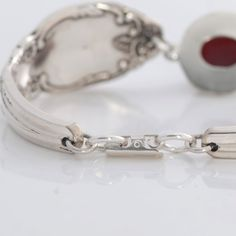 Vintage Spoon Bracelet - yesterdays Treasure hand crafted from two upcycle - recycle silver plate spoons into new Treasures for today and tomorrow.