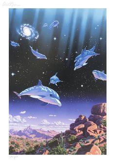 Dreams of Ocean By Schim Schimmel - Serigraph on Paper