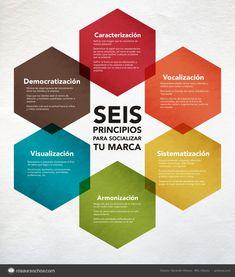 Infografía con 6 principios básicos para una marca social