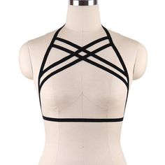 ea8392bc4a fashion women Body harness sexy black body strap with soft bra elastic  elastic adjusting shirt straps safety belt underwear