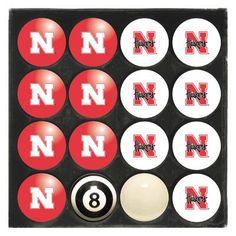 Imperial NCAA Home Vs. Away Billiard Ball Set NCAA Team: Nebraska