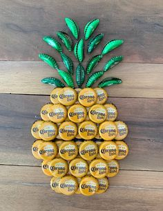 Diy Bottle Cap Crafts 157414949463860615 - Bottle Cap Pineapple – Creative festive tropical fruit beach fun decoration Unique handmade bottle cap crafts by Grumpy Family Crafts Source by Beer Cap Crafts, Cork Crafts, Wine Bottle Crafts, Diy Crafts, Beer Cap Art, Beer Caps, Beer Bottle Caps, Diy Craft Projects, Bottle Cap Projects
