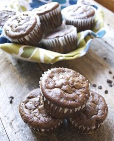 Flourless Chocolate Protein Muffins www.maebells.com.   Great way to get extra protein into Max to help his wound heal.