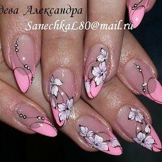 Trendy French Pedicure With Rhinestones Flower Nails Ideas French Nail Designs, Toe Nail Designs, Nail Polish Designs, Fancy Nails, Pink Nails, Cute Nails, Nail Ink, Nail Manicure, Best Acrylic Nails